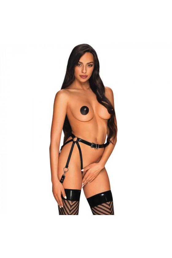 PASSION WOMAN BS019 BODYSTOCKING NERO TAGLIA UNICA